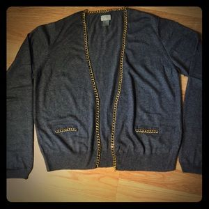 HM grey cardigan